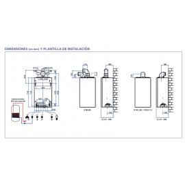 Caldera Talia green System 35 FF Ebus2 Gas Natural ChaffoteauxKit completo Con salida de humos y barra de conexión