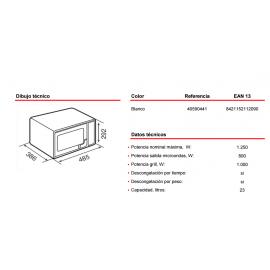 Microondas con grill MWE 230 G Blanco Teka
