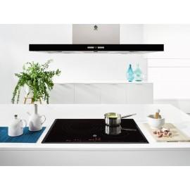 Campana decorativa isla diseño rectangular S. cristal Negro 3BI897NC Balay