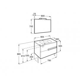Conjunto mueble 800 Victoria N Blanco A855842806 Roca