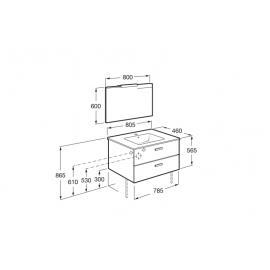 Conjunto mueble 800 Victoria Basic Blanco A855857806 Roca