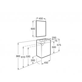 Conjunto mueble Mini 450 Blanco A855865806 Roca