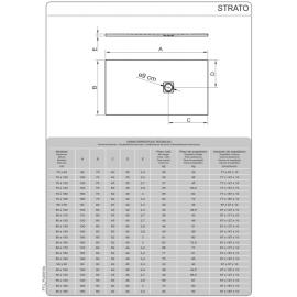 Plato de ducha de resina Modelo Strato 120 x 80 Blanco Cabel