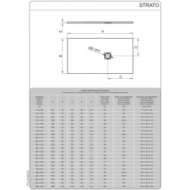 Plato de ducha de resina Modelo Strato 150 x 80 Negro Cabel