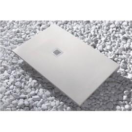 Plato de ducha de resina Strato 150 x 80 Beige Cabel