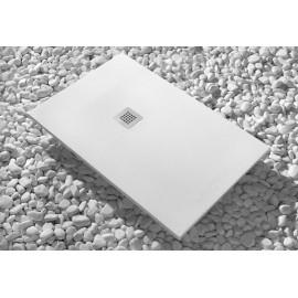 Plato de ducha de resina Modelo Strato 150 x 80 Blanco Cabel