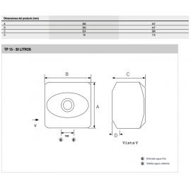 Termo eléctrico TP 15 EU 3100414 Fleck