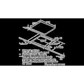 Placa vitrocerámica 60cm de ancho Marco acero inox. 3EB715XR Balay