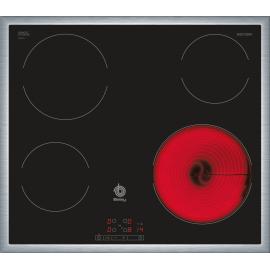 Placa vitrocerámica 60cm de ancho Marco acero inox. 3EB720XR Balay