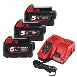 Pack de baterías + cargador rápido M18NRG503 Milwaukee