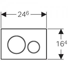 Pulsador S. Sigma20 115.882.KN. 1 Geberit