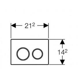 Pulsador S. Omega20 115.085.KJ. 1 Geberit