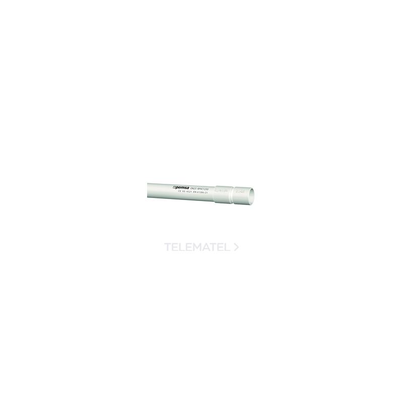 Tubo rígido de plástico RLH1250 libre de halógenos d. 25 13050125 Pemsa