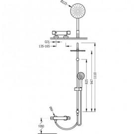 Sistema de ducha Termostática LEX ECO-TERM