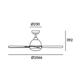Ventilador techo modelo Borneo LEDS C4