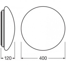 Plafón Led S. Surface-C sensor 4058075000841 Osram