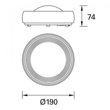 Plafón Led S. Rhino PX-0096-ANT Forlight