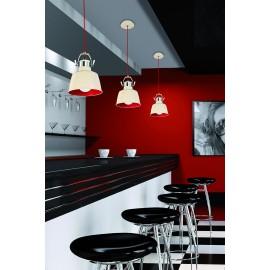 Lámpara de techo/pared Vintage blanco y rojo LEDS C4