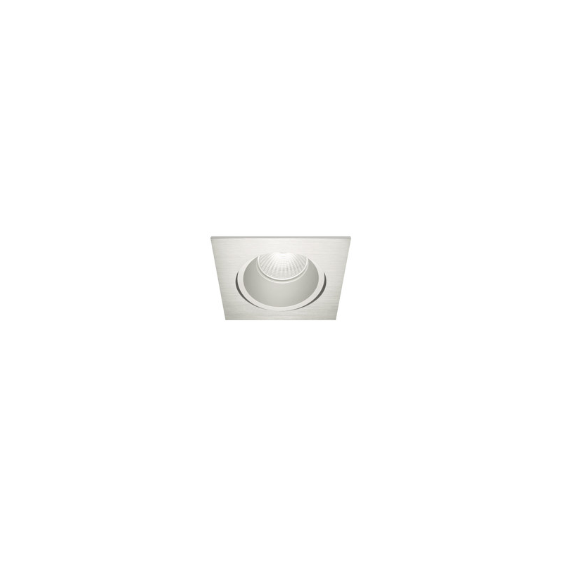 Downlight cuadrado Led empotrable S. Inox. S GU10 Blanco 00291-0GU Nexia
