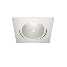 Downlight cuadrado Led empotrable S. Inox. S GU10 Alum. 00291-8GU Nexia
