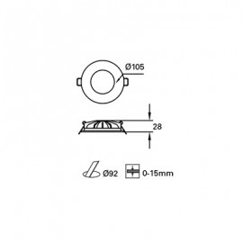 Foco Led S. Hide empotrable Blanco TC-0175-BLA Forlight