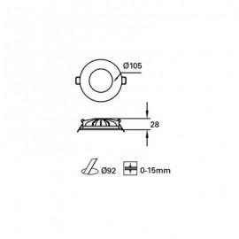 Downlight Led S. Hide empotrable Blanco TC-0176-BLA Forlight