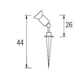 Proyector S. Esparta PAR38 E27 Negro 55-8784-05-05 Leds C4