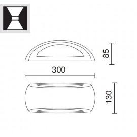 Aplique exterior S. Calm E27 Negro 646A-G05X1A-02 Dopo