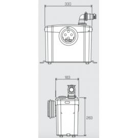 Triturador-Bombeador sanitario S. Sanitop 0100200 Sfa Sanitrit