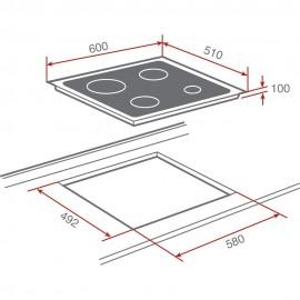 Placa de cocina polivalente S. CGC 4G AI AL 10205019 Teka