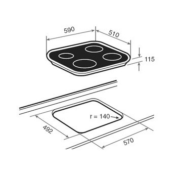Placa de cocina polivalente S. CG.1 4G AI AL 10205283 Teka