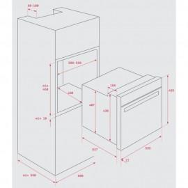 Horno convencional HBC 535 Inox. 41531010 Teka