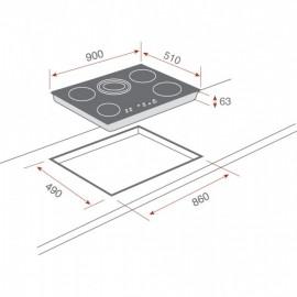 Placa vitrocerámica TR 951 90 cm 10210002  Teka