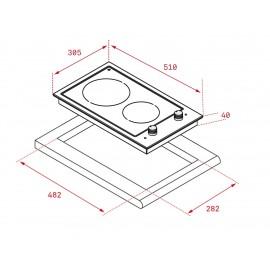 Placa modular vitrocerámica EFX 30.1 2H 40214405 Teka