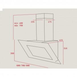 Campana vertical de pared decorativa DVT 685 Blanca 40483570 Teka