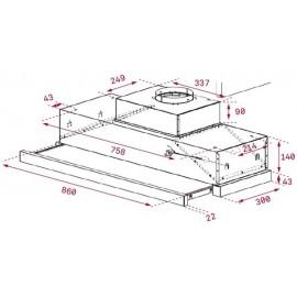 Campana extraíble CNL 9815 PLUS Inox. 40436860 Teka