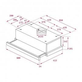 Campana extraíble TL 9310 Inox. 40474390 Teka