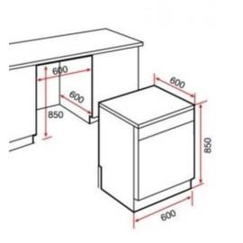 Lavavajillas libre instalación LP9 850 Inox. 40782501 Teka