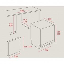Lavavajillas integrable total DW8 57 FI Inox. 40782125 Teka