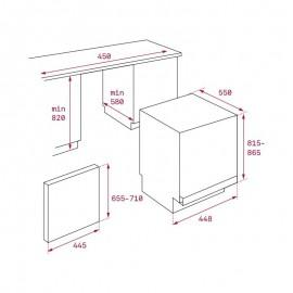 Lavavajillas integrable DW8 40 FI Inox. 40782147 Teka