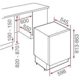 Congelador integrable mini ARTIC TG12 120 D Blanco 40694000 Teka