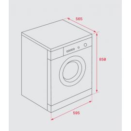 Lavadora secadora carga frontal SPA TKD 1610 WD Blanca 40874450 Teka