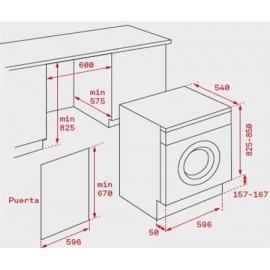 Lavadora integrable 7 Kg y carga frontal LI3 1470 E Blanca 40830210 Teka
