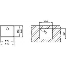 Fregadero de acero inox. TOP LINEA R15 50.40 10138005 Teka