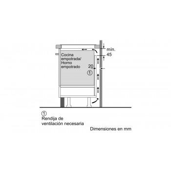 Placa de inducción 60cm POJ675FC1E