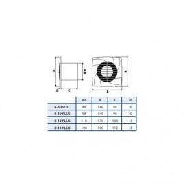 Extractor de baño B10 PLUS Timer Cata