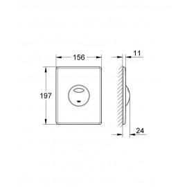 Fluxor urinario Skate electrónico con sensor Inox Grohe