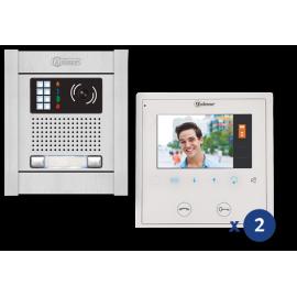 Kit videoortero electrónico en color de 2 líneas N5220/VESTA2 11500240B Golmar