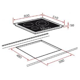 Placa de inducción IZ 6315 10210159 Teka
