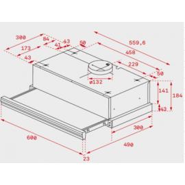Campana extraible Inox CNL 6400 Inox 40436800 Teka